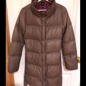 MID-LENGTH DOWN PUFFER w/ REMOVABLE BELT